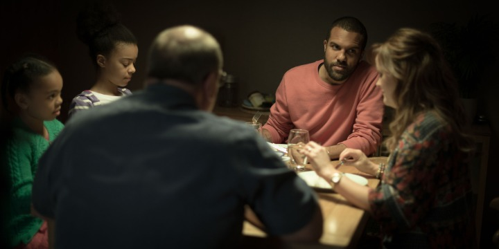 Programme Name: The Interceptor - TX: n/a - Episode: n/a (No. 2) - Picture Shows: (L-R) Chloe (RAYNE OBILI), Hannah (INDIA RIA AMARTEIFIO), Ralph (DAVID TROUGHTON), Ash (OT FAGBENLE), Lorna (JO JOYNER) - (C) BBC - Photographer: Des Willie