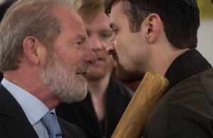 Programme Name: Stonemouth - TX: n/a - Episode: n/a (No. 2) - Picture Shows:  Don (PETER MULLAN), Fraser (KEVIN MAINS) - (C) BBC - Photographer: Graeme Hunter