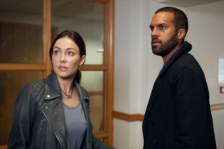 Programme Name: The Interceptor - TX: n/a - Episode: n/a (No. 7) - Picture Shows:  Kim (ANNA SKELLERN), Ash (OT FAGBENLE) - (C) BBC - Photographer: Robert Viglasky