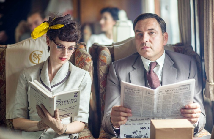 Programme Name: Partners In Crime - TX: 26/07/2015 - Episode: 1 (No. 1) - Picture Shows: Episode One: 'The Secret Adversary' Tuppence Beresford (JESSICA RAINE), Tommy Beresford (DAVID WALLIAMS) - (C) Endor Productions 2015 - Photographer: Laurence Cendrowicz