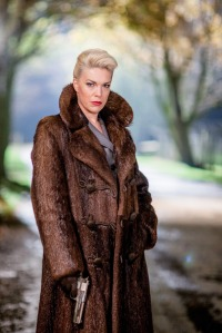 Programme Name: Partners In Crime - TX: 16/08/2015 - Episode: 4 (No. 4) - Picture Shows: Episode Four |  'N or M?' The Assassin (HANNAH WADDINGHAM) - (C) Endor Productions - Photographer: Laurence Cendrowicz