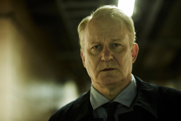 WARNING: Embargoed for publication until 00:00:01 on 18/08/2015 - Programme Name: River - TX: n/a - Episode: River (No. Ep 1) - Picture Shows: John River (STELLAN SKARSGARD) - (C) Kudos - Photographer: Nick Briggs
