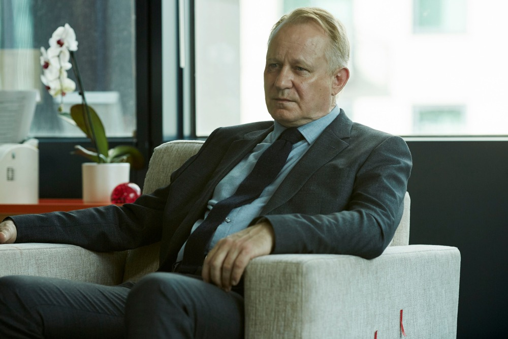 WARNING: Embargoed for publication until 13/10/2015 - Programme Name: River - TX: n/a - Episode: River (No. Ep 2) - Picture Shows: **STRICTLY EMBARGOED UNTIL 00:01HRS, TUESDAY 13TH OCTOBER, 2015** John River (STELLAN SKARSGARD) - (C) Kudos - Photographer: Nick Briggs