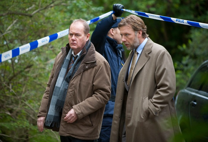 Programme Name: Beck - TX: n/a - Episode: Buried Alive (No. Buried Alive) - Picture Shows: (L-R) Martin Beck (PETER HABER), Gunvald Larsson (MIKAEL PERSBRANDT) - (C) Nordisk Film Production AB & Filmlance International AB - Photographer: Bengt Wanselius