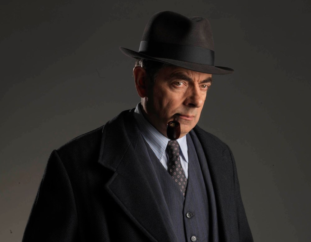 ITV has commenced filming Maigret Sets A Trap one of two stand-alone dramatic films featuring the legendary French fictional detective Jules Maigret, played by Rowan Atkinson. This image is the copyright of ITV and must be used in relation to Maigret. Photographer John Rogers.