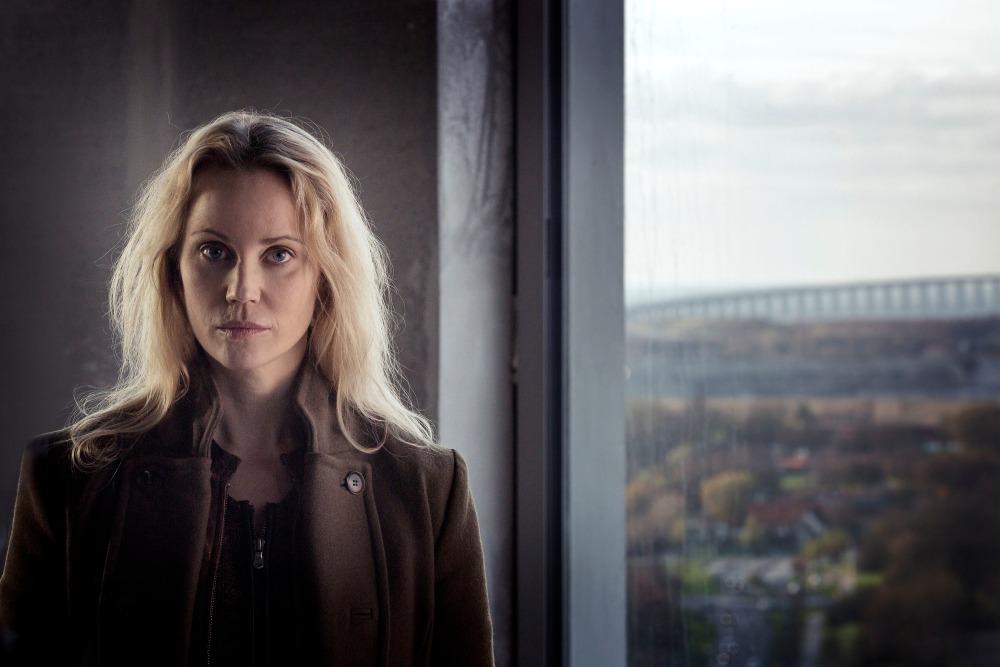Programme Name: The Bridge - TX: n/a - Episode: The Bridge - series 3 - ep 1 (No. 1) - Picture Shows: Saga Norén (SOFIA HELIN) - (C) Carolina Romare - Photographer: Carolina Romare