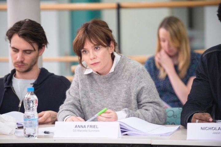 BUCCANEER MEDIA FOR ITV MARCELLA Images taken at the read through in London. Pictured:ANNA FRIEL as DS Marcella Summers.