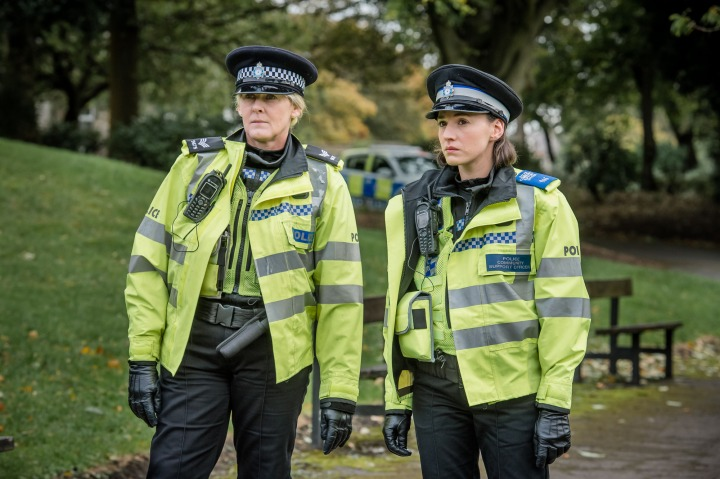 WARNING: Embargoed for publication until 00:00:01 on 16/02/2016 - Programme Name: Happy Valley series 2 - TX: n/a - Episode: n/a (No. 3) - Picture Shows: **EMBARGOED FOR PUBLICATION UNTIL 00:01 HRS ON TUESDAY 16TH FEBRUARY 2016** Catherine (SARAH LANCASHIRE), Ann Gallagher (CHARLIE MURPHY) - (C) Red Productions - Photographer: Ben Blackall