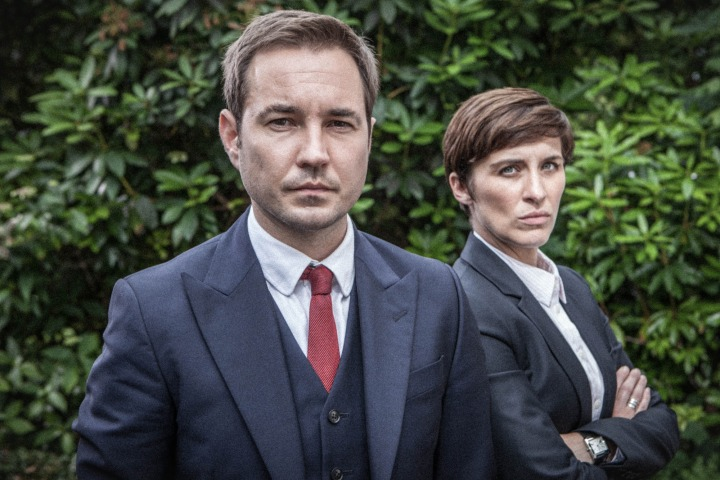 WARNING: Embargoed for publication until 00:00:01 on 12/04/2016 - Programme Name: Line of Duty - TX: n/a - Episode: n/a (No. 5) - Picture Shows:  Detective Sergeant Steve Arnott (MARTIN COMPSTON), Detective Constable Kate Fleming (VICKY McCLURE) - (C) World Productions - Photographer: Mark Bourdillon
