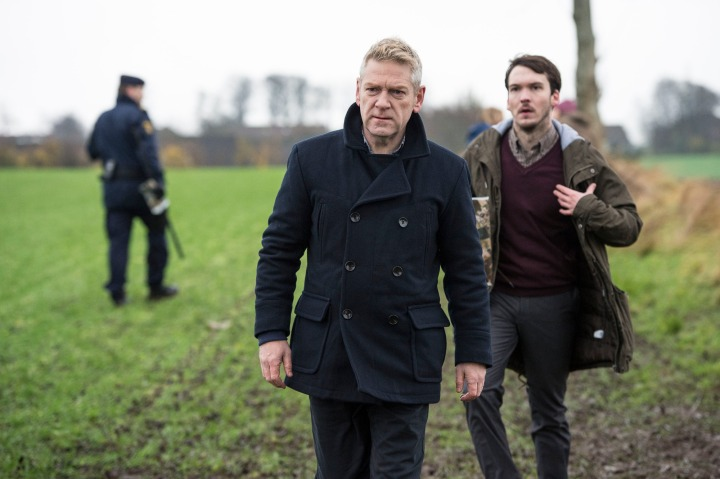 Programme Name: Wallander - TX: n/a - Episode: A Lesson in Love  (No. Pt 1 of 2 - A Lesson in Love ) - Picture Shows: (L-R) Kurt Wallander (KENNETH BRANAGH), Eliasson (JOE CLAFLIN) - (C) Left Bank Pictures - Photographer: Steffan Hill