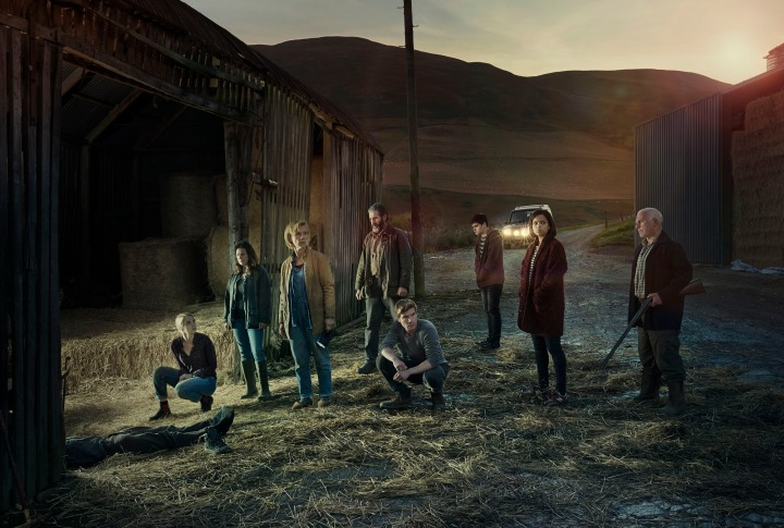 Programme Name: One of Us - TX: n/a - Episode: n/a (No. 1) - Picture Shows: Claire Elliot (JOANNA VANDERHAM), Moira Douglas (JULIE GRAHAM), Louise Elliot (JULIET STEVENSON), Bill Douglas (JOHN LYNCH), Rob Elliot (JOE DEMPSIE), Jamie Douglas (CRISTIAN ORTEGA), Anna (GEORGINA CAMPBELL), Alastair (GARY LEWIS) - (C) BBC - Photographer: Phil Fisk