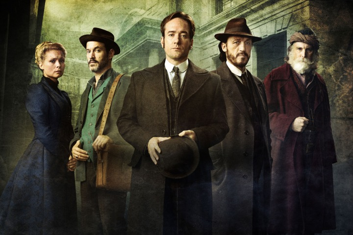 Programme Name: Ripper Street  S4 - TX: n/a - Episode: n/a (No. Iconic) - Picture Shows: (L-R) Long Susan (MYANNA BURING), Homer Jackson (ADAM ROTHENBERG), Edmund Reid (MATTHEW MACFADYEN), Bennet Drake (JEROME FLYNN), Croker (DAVID THRELFALL) - (C) Tiger Aspect 2016 - Photographer: Bernard Walsh