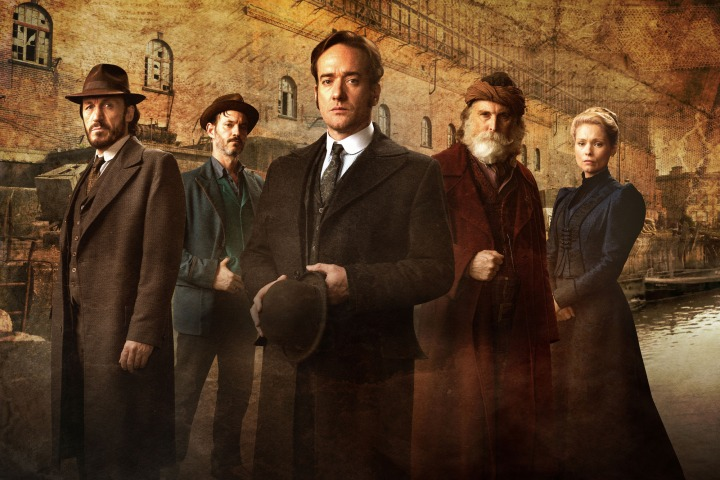 Programme Name: Ripper Street S4 - TX: n/a - Episode: n/a (No. Generics) - Picture Shows: (L-R) Bennet Drake (JEROME FLYNN), Homer Jackson (ADAM ROTHENBERG), Edmund Reid (MATTHEW MACFADYEN), Croker (DAVID THRELFALL), Long Susan (MYANNA BURING) - (C) Tiger Aspect 2016 - Photographer: Bernard Walsh