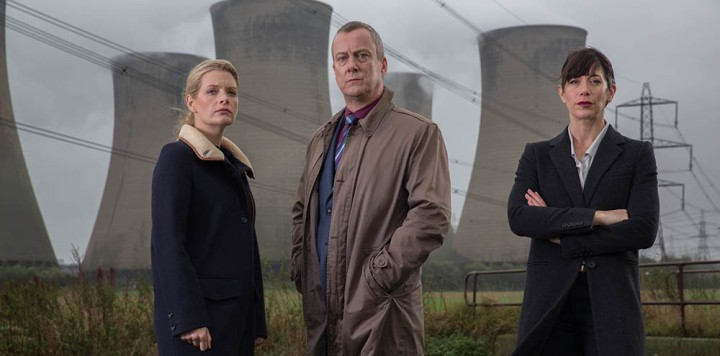 LEFT BANK PICTURES PRESENTS FOR ITV DCI BANKS SERIES 4. Pictured: ANDREA LOWE as DS Annie Cabot, STEPHEN TOMPKINSON as DCI Banks and CAROLINE CATZ as DI Helen Morton. Photographer: Matt Squires. This image is the copyright of LEFT BANK PICTURE/ITV and must only be used in relation to DCI BANKS. The images are for one use only, any further use must be checked with the ITV Picture Desk.