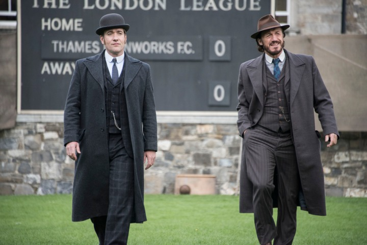 Programme Name: Ripper Street  S4 - TX: 19/09/2016 - Episode: n/a (No. 5) - Picture Shows: (L-R) Edmund Reid (MATTHEW MACFADYEN), Bennet Drake (JEROME FLYNN) - (C) Tiger Aspect 2016 - Photographer: Bernard Walsh