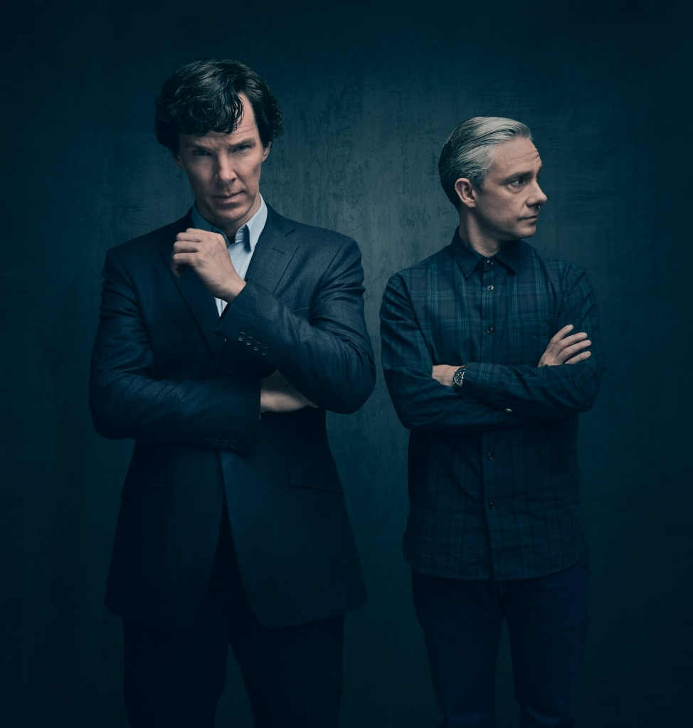WARNING: Embargoed for publication until 13:00:00 on 31/08/2016 - Programme Name: Sherlock - TX: n/a - Episode: Sherlock - early release Sept (No. n/a) - Picture Shows: (L-R) Sherlock Holmes (BENEDICT CUMBERBATCH), Dr John Watson (MARTIN FREEMAN) - (C) Hartswood Films - Photographer: Todd Antony
