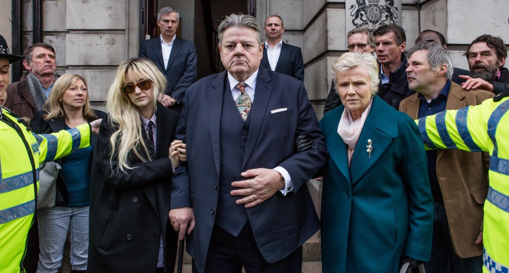 L-R Dee (Andrea Riseborough), Paul (Robbie Coltrane) and Marie (Julie Walters)