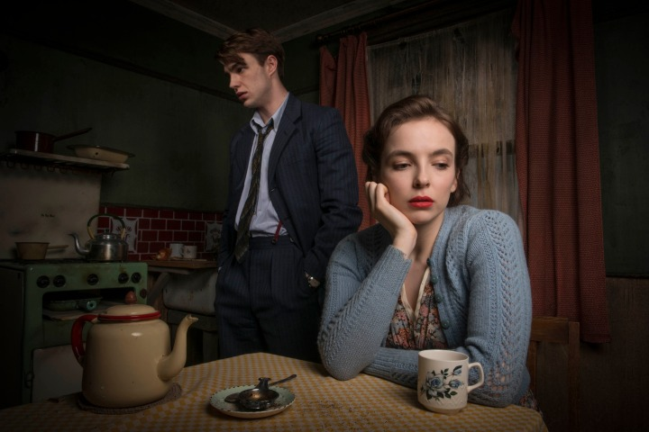 Programme Name: Rillington Place - TX: n/a - Episode: n/a (No. n/a) - Picture Shows: General release Timothy Evans (NICO MIRALLEGRO), Beryl Evans (JODIE COMER) - (C) BBC - Photographer: Des Willie