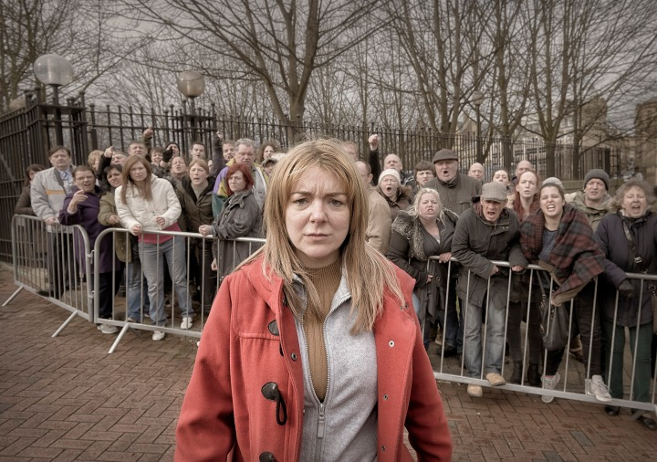 Programme Name: The Moorside - TX: 14/02/2017 - Episode: The Moorside Ep 2 (No. 2) - Picture Shows:  Julie Bushby (SHERIDAN SMITH) - (C) Stuart Wood/ITV - Photographer: Stuart Wood