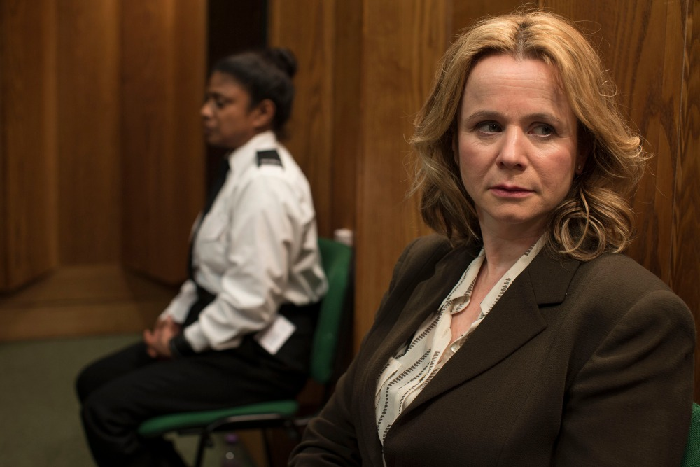 Programme Name: Apple Tree Yard - TX: 06/02/2017 - Episode: Apple Tree Yard - Ep4 (No. 4) - Picture Shows: Yvonne Carmichael (EMILY WATSON) - (C) Kudos - Photographer: Nick Briggs
